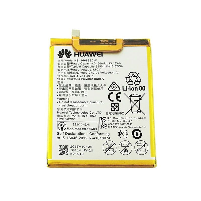 Original Huawei HB416683ECW batería recargable del teléfono del li-ion para Huawei Nexus 6 P H1511 H1512 3450 Mah