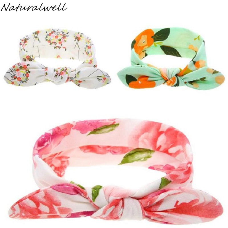 Naturalwell Kids Headwrap Organic Cotton Designer Fabric Floral Patterned Top Knot Headband Child Topknot Girls Headwrap HB124 econscious organic cotton twill corps hat ec7010