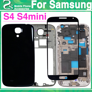 d9a42434b78 Nuevo S4Mini frente marco medio cubierta posterior de la batería para  Samsung Galaxy S4 mini i9190 i9192 vivienda completa Mediados de caso