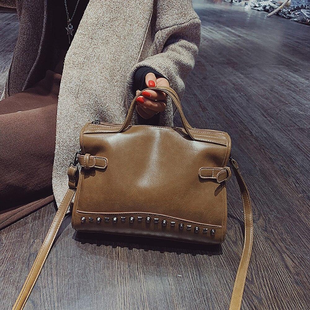 100% QualitäT Schulter Tasche Für Frauen 2019 Mode Vintage Solide Frauen Messenger Taschen Mädchen Damen Umhängetaschen Lässige Luxus Handtaschen Mujer Profitieren Sie Klein