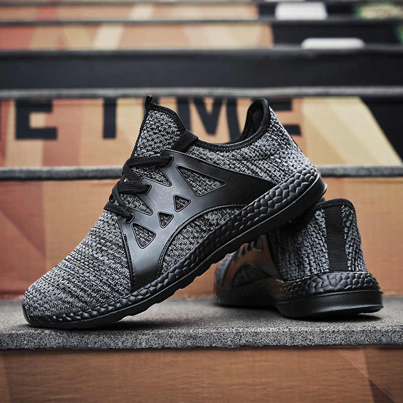 Unisex Comfortable Sport Sneakers Breathable Mesh Trainer Shoes Couple Running Shoes For Men Women 3 Color Size 36-47