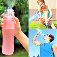 Bottle Cup Cycling Running Water Drinking Climbing Misting Spray Healthy Sports 700ML