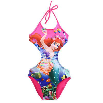 Lovely Kids Baby Girls Halter Bikini Backless Lace Up Cartoon Princess Swimsuit Bathing Suit Swimwear Costume At Any Cost