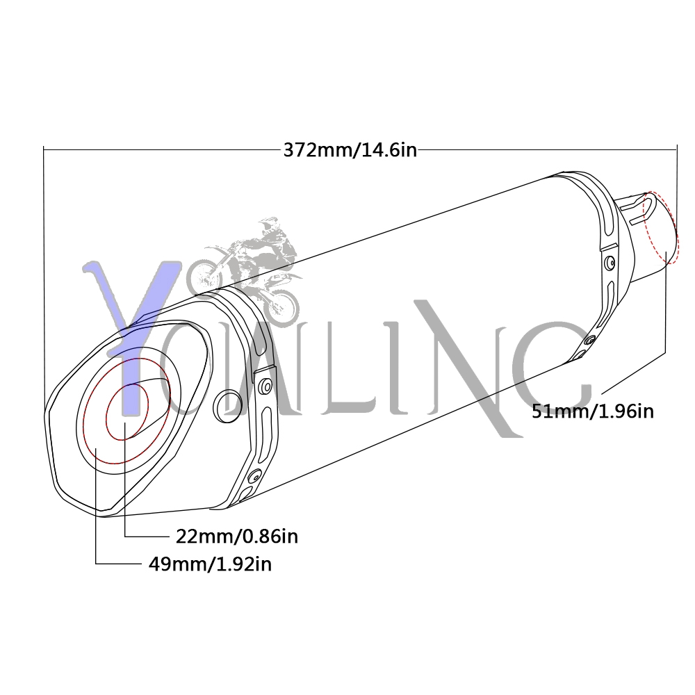 36 51mm Motorcycle Exhaust Modified Scooter Muffler For Bmw Wiring Diagram 06 Ktm 450 Sx R1200gs F800gs F 150 Honda Xr650l Crf250l Cr In Systems