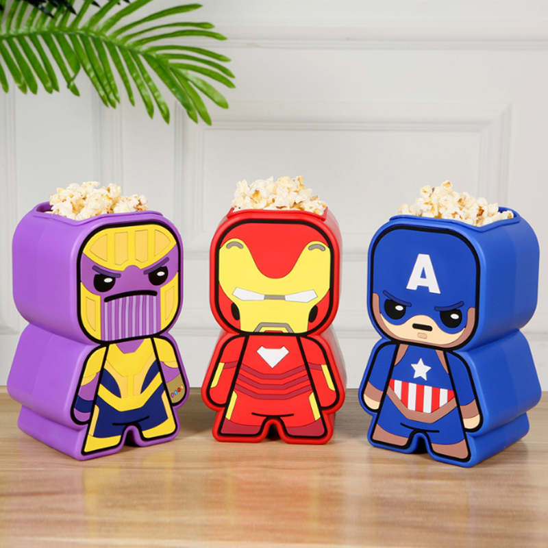 The Avengers 4 Iron Man Sipper Captain America Thanos Popcorn bucket Multi function Styling Cup Coke action figure kid toys in Action Toy Figures from Toys Hobbies