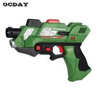 2Pcs Digital Laser Tag Submachine Toy Gun Generation 2 Light Sounds Infrared Battle Game Shooting Arma