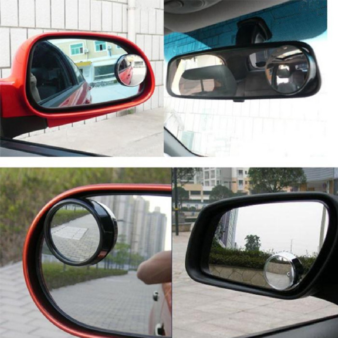 Wide Angle Round Convex Blind Spot Mirror Rear View Messaging Car Vehicle the black high quality
