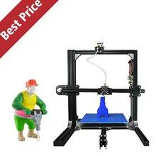 2016 Новая Алюминиевая Структура ET-I3 3D DIY Принтер Prusa i3 3D Комплект принтера Бесплатная Подогревом Кровать Бесплатно Один Рулон Накаливания Бесплатно SD карты