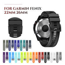 Soft Silicone Watch Strap for Garmin Fenix 5 Band 22mm Quick Fit 5X 3 3HR 26mm band