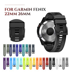 Weiche Silikon Uhr Strap für Garmin Fenix 5 Silikon Band 22mm Strap Quick Fit für Garmin Fenix 5X3 3HR Band 26mm Uhr band