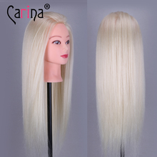 Hot Professional Styling Head With Blonde Hair 55cm Long Wig Heads For Hairdressers Training Mannequin