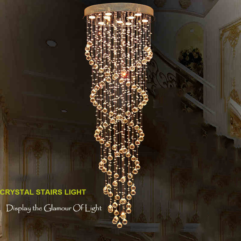 LED Living Room Pendant Light Lamp Crystal Pendant Lighting Indoor Cristal Lamps Crystalline Lights Fixtures for Hallway Stairs стоимость
