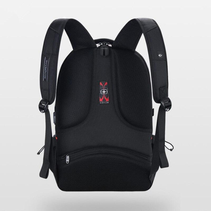 Svvisssvver mâle multifonction USB charge mode affaires décontracté voyage anti-vol étanche 15.6 pouces ordinateur portable hommes sac à dos - 6
