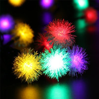 Flos Albiziae Solar Christmas String Lights 5M 20 LED Fairy Lights For Indoor Outdoor Home Patio