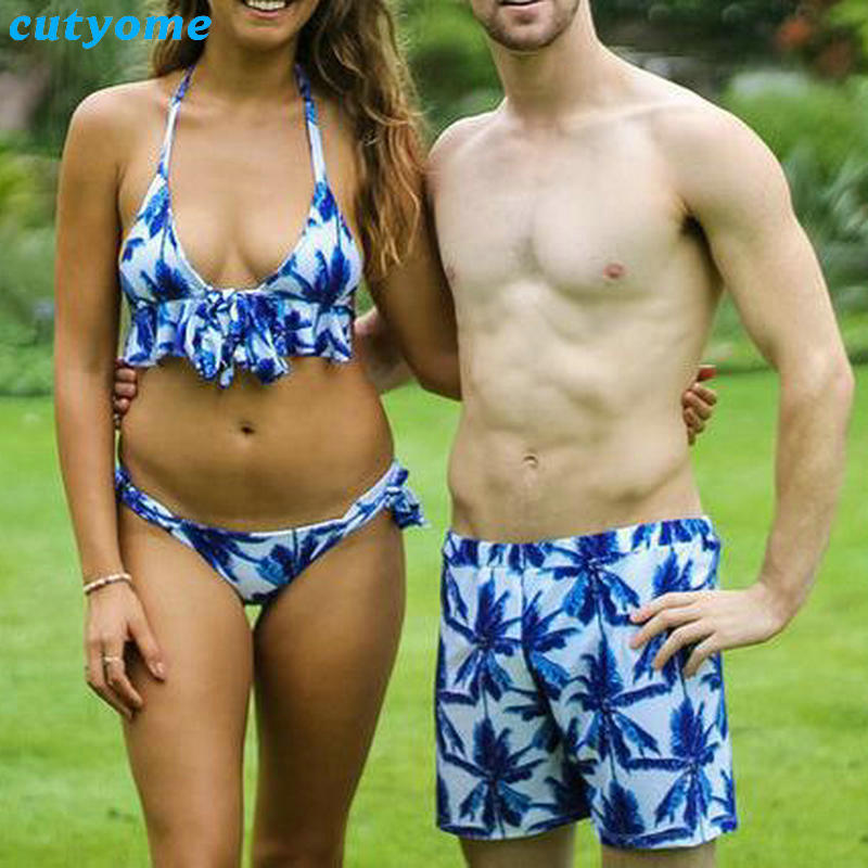 Mother Daughter Father Son Swimsuits Blue Family Look Mom And Daugher Daddy Parent Child Bikini Bathing Swimwear Summer Clothes (11)