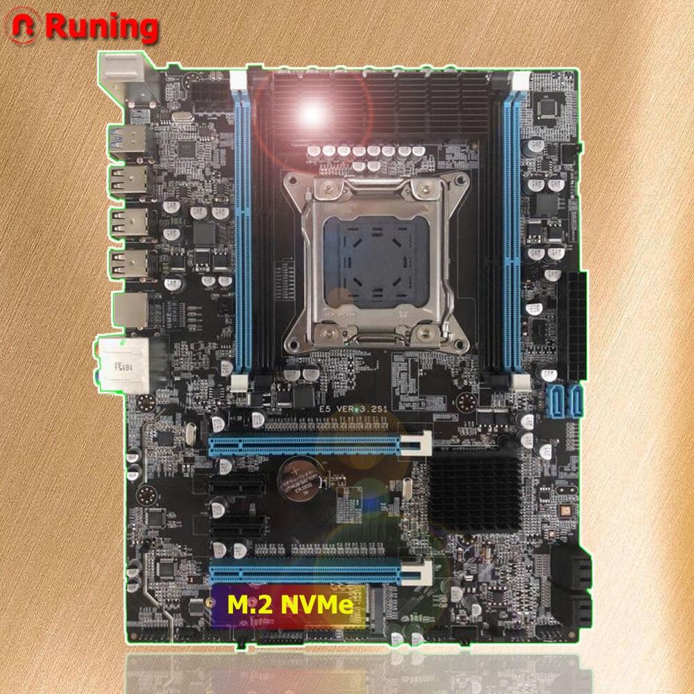 Rabatt computer teile Runing X79 motherboard mit M.2 port für i7 3960x Xeon E5 2680 V2 ATX LGA2011 DDR3 4 kanäle speicher