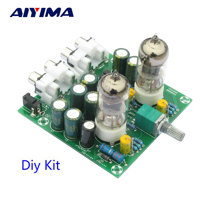 Aiyima Fever 6J1 tube preamp amplifier board Pre-amp Headphone amp 6J1 valve preamp bile buffer diy kits