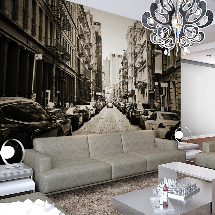 Usa new york soho street large wall mural frescoes free shipping in wallpapers from home improvement on aliexpress com alibaba group