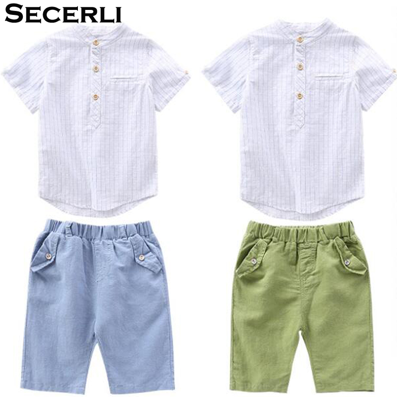 Summer Boys Set 2018 Boys Clothing Set Teenage Kids Boys Suit 4 To 15Years Children Short Sleeve Striped Shirt Shorts Outfit ujar brand dot patchwork short sleeve shirt boys shorts set childrens summer sets u52a705