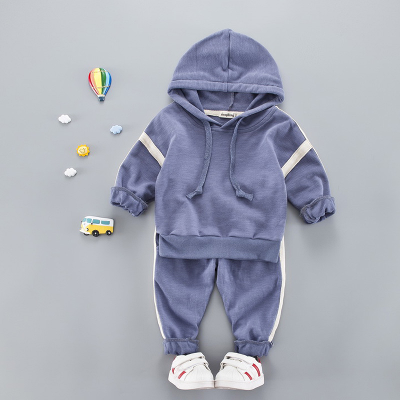 Baby Boy Hooded Clothes Suit Fall Spring Letter T-Shirt + Pants Costume For Boy Casual Kids Sport Suits Tracksuit Boys Clothes casual hooded letter print t shirt white shorts twinset for women