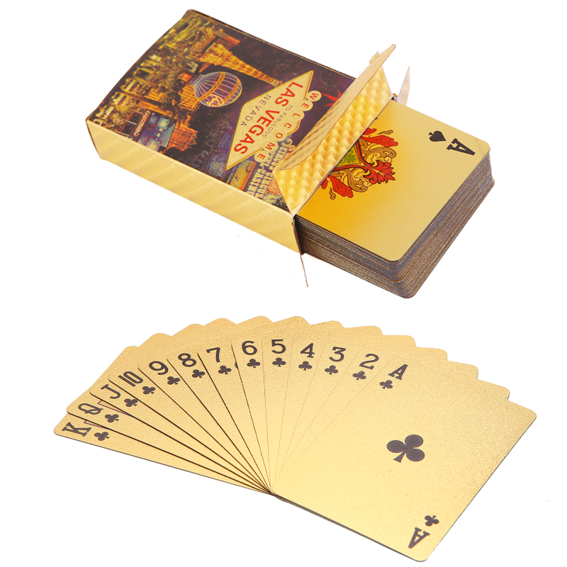 LAS VEGAS Playing Cards Waterproof custom full color PVC poker collection Durable creative gift and diamond plastic poker