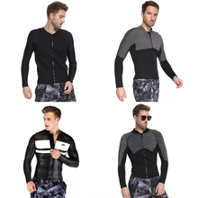 2018 3MM Man Long Sleeve Surfing Sailing Clothes Zip Up Wetsuit Neoprene  Scuba Jacket For Men 2b5c5b7ed