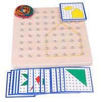 Brinquedo do bebê montessori gráficos criativos laço de borracha unhas placas com cartões educação infantil crianças brinquedos juguetes