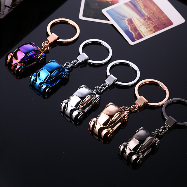 LED light keychain key ring beetle model key chain key holder high quality portachiavi chaveiro llaveros hombre Christmas gifts
