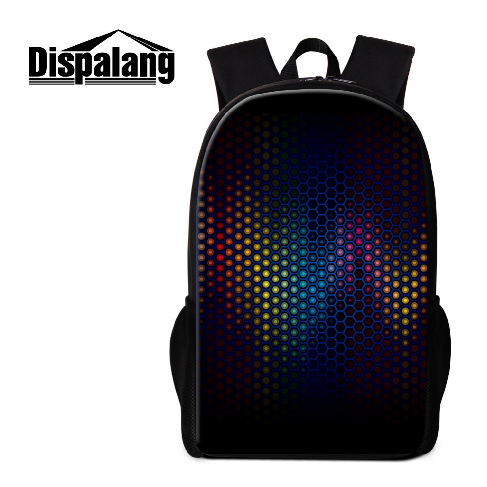 Dispalang Cool Mens Backpack Lighting Student School Bags Kids School Backpack 16 Inch Casual Rucksack Kids Book Bag Mochila