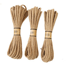 10M/lot 6mm Manual strand woven burlap Rope Natural Jute rope Twine String Cord Hemp for DIY Wed garden Wrap craft Decor