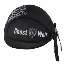 Cycling Cap Men Black Ghost Wolf Pattern Quick Dry MTB Bicycle Pirate Hat Outdoor Sports Bike Riding Bandana HeadScarf Ciclismo