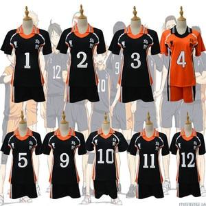 Image 1 - Haikyu!! Haikyuu קוספליי תלבושות Karasuno Koukou תיכון מועדון כדורעף Hinata Shoyo חולצת ספורט גופיות