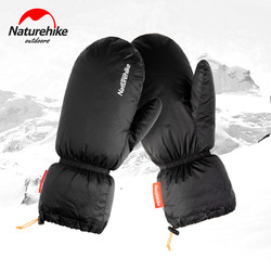 Naturehike Winter Waterproof Warm Goose Down Gloves Outdoor Camping Hiking Skiing Gloves for Men and Women