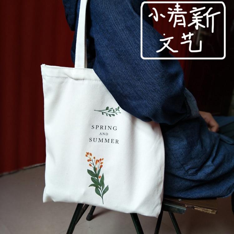 Moda floral fresco bolsas de lona feminina