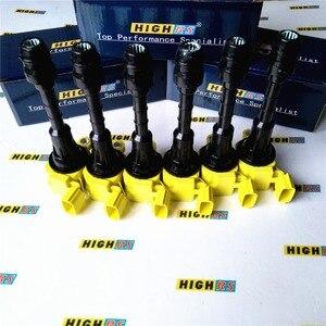 Image 3 - Juego de 6 paquetes de bobinas de encendido de rendimiento para Nissan 350Z Z33 Fairlady Z M35 G35 FX35 Skyline Stagera Cedric Fuga Gloria Y34