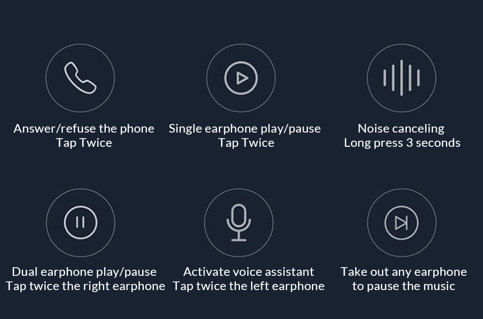 ניתן לשלוט בפועלות רבות בפקודות קוליות ולחצני הטאצ
