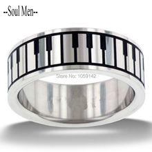 Alabanza y Adoración Música Teclado de Piano de Acero Inoxidable de Calidad superior anillos para Hombres Mujeres Unique Wedding Band Tamaño 5 a 13