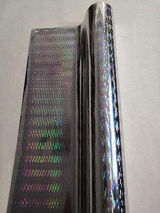 Image 4 - Heißprägefolie holographische folie silber dicke linie muster heißer drücken sie auf papier oder kunststoff wärme transfer film