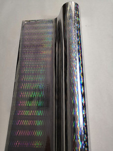 Image 4 - Hot stamping folie holografische folie zilver dikke lijn patroon hot druk op papier of plastic warmte overdracht film