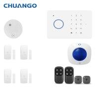 Chuango 315 МГц GSM Главная охранной сигнализации системы Детектор движения приложение управление пожарной сигнализации сигнальный датчик дыма