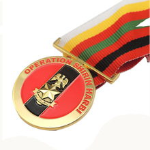 custom 3D medals cheap OEM usa gold with ribbons high quality enamel