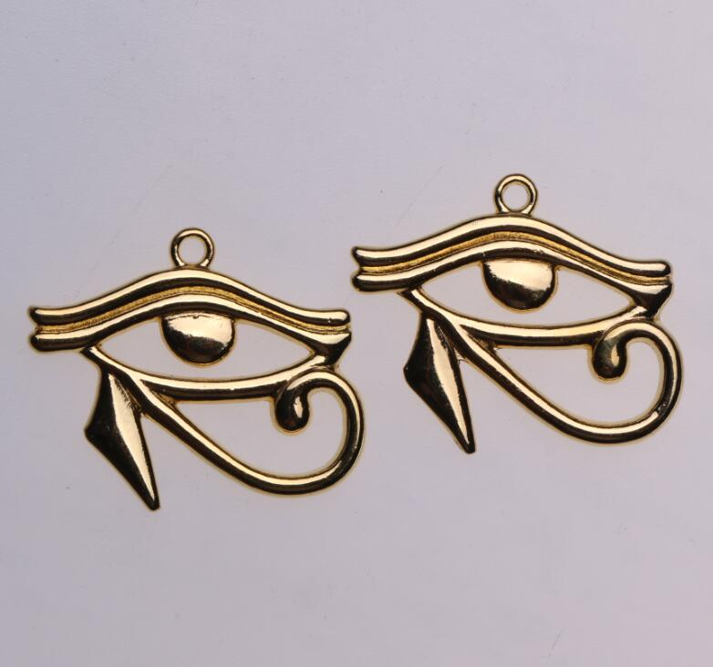 10pcs Antique Bronze RAH Egypte oeil d/'Horus égyptien Charms Pendentifs 27x33mm