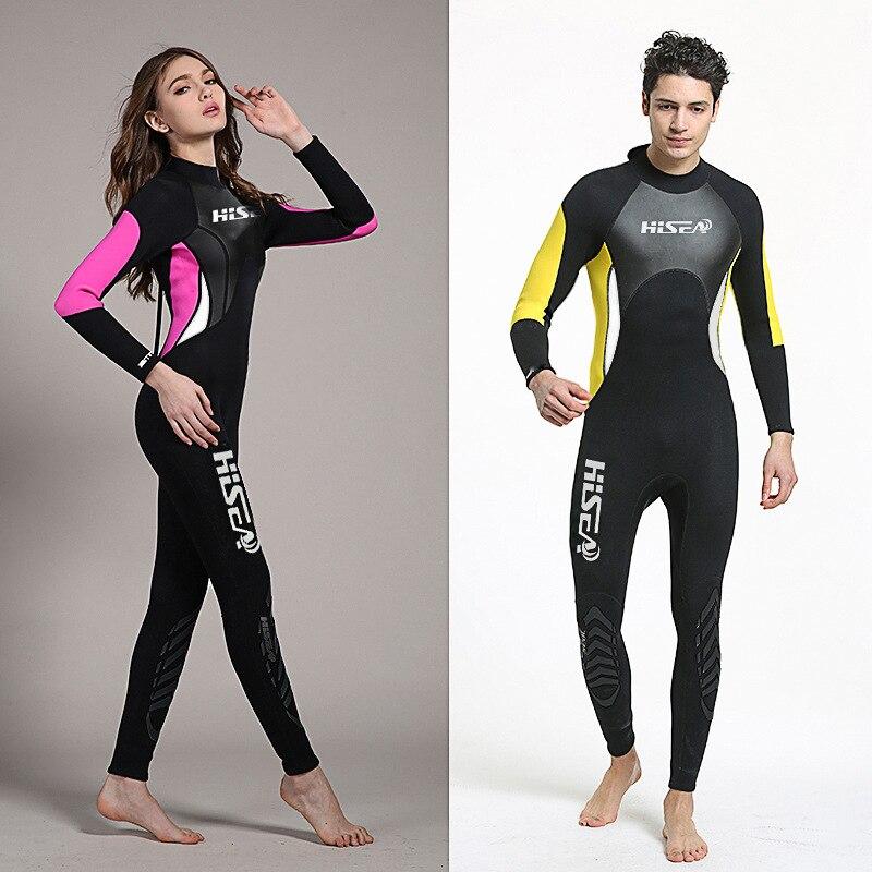 ФОТО 3mm Neoprene Wetsuit Men Women Swimsuit Equipment For Diving Scuba Swimming Surfing Spearfishing Suit Triathlon Wetsuits