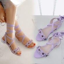 141606aba PXELENA Projeto Flor Doce Gladiador Sandálias Meninas Sapatos De Casamento  Cinta Cruz Saltos Baixos Sandálias Gladiador