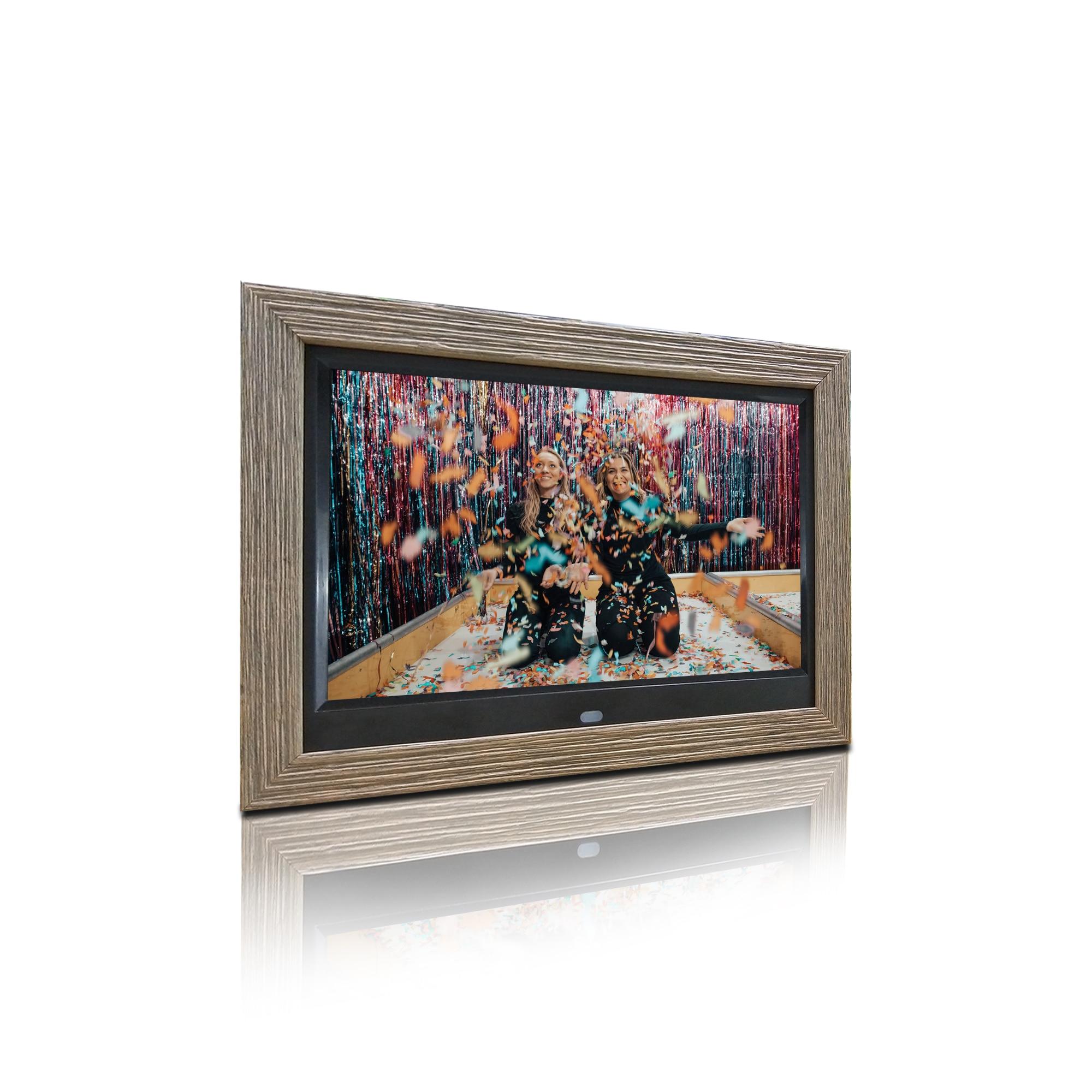 10 polegada IPS ângulo de visualização completa do quadro de madeira de alta resolução 1280*800 digital photo frame frame digital da foto digital álbum de fotos