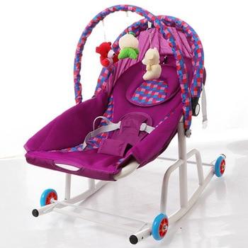 ベビーロッカーポータブルベビーロッキングチェア幼児幼児クレードルロッカーベビーバウンサー椅子ベビースイング椅子ラウンジリクライニング & おもちゃ