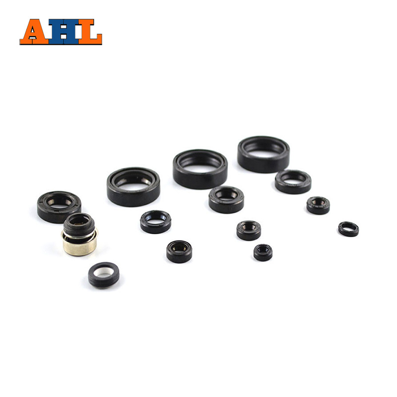 AHL 14pcs Motorcycle Engine parts Complete Oil seal Kit & water pump seal kit For Honda CRM250AR CRM250 AR CRM 250 AR 249 cc jiangdong engine parts for tractor the set of fuel pump repair kit for engine jd495