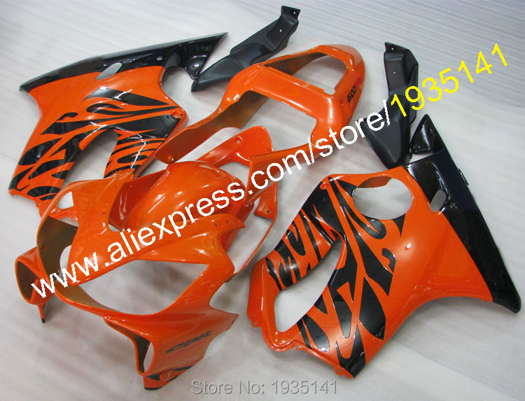 Hot Sales,For Honda CBR600 F4i 01-03 CBR 600 F4i 2001 2002 2003 CBR 600F4i Orange Black Motorcycle Fairing (Injection molding) injection molded parts for honda cbr 600 f4i fairings yellow black 2001 2002 2003 cbr600 f4i 01 02 03 motorcyle fairing kit hg5