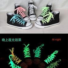 1 пара светится в темноте светильник детские игрушки светящиеся шнурки Забавный спортивный подарок бегущий флуоресцентный подарок игрушки для детей