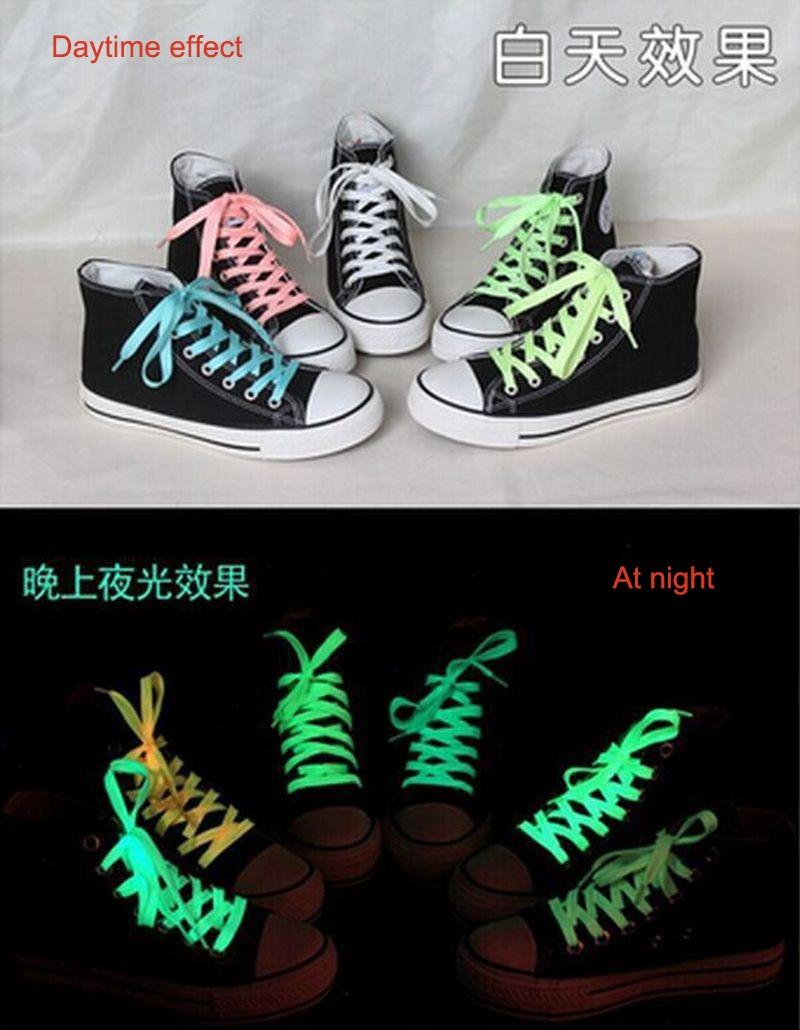 1 Pair Glow In The Dark Light Kids Toys Luminous Shoelace Funny Sport Gift Running Fluorescent Gift Toys For Children